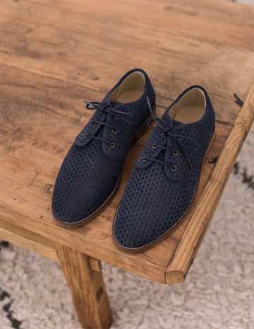 Openwork Alphonse Derbies - M.Moustache Shoes