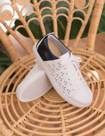 Renée openwork sneakers - M.Moustache Shoes