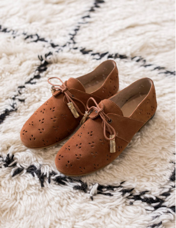 Martine openwork derbies - M.Moustache Shoes