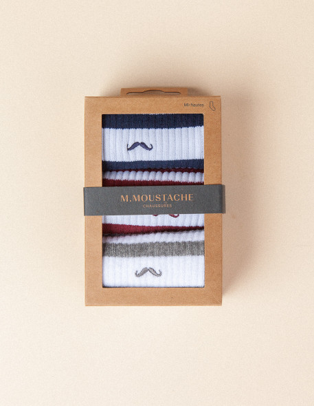 Pack of 3 Socks - M.Moustache Shoes